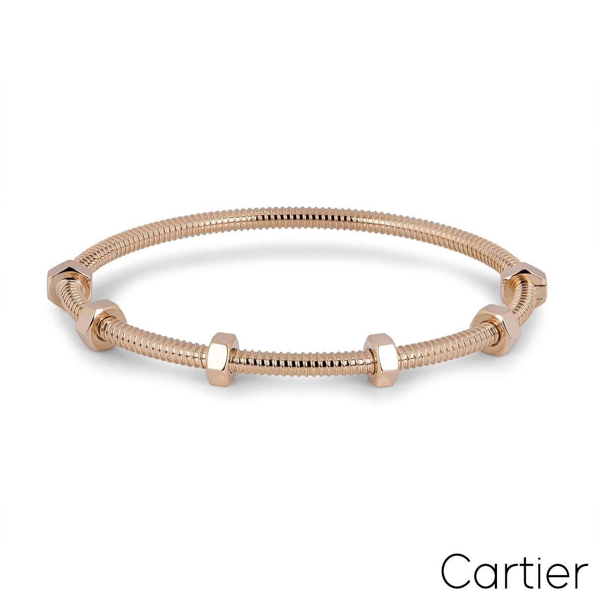 Cartier Rose Gold Ecrou De Cartier Bracelet Size 20 B6049520
